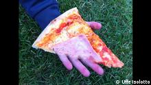 A pizza/hand photo manipulation by Uffe Isolotto (Photo: Uffe Isolotto)