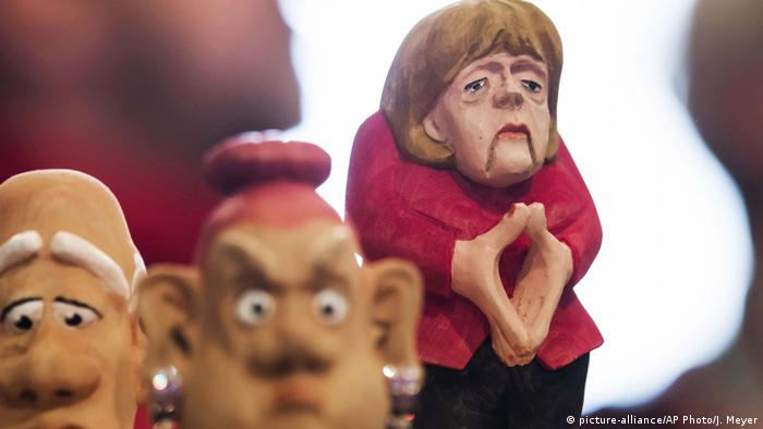 Фигурка Ангелы Меркель из Рудных гор