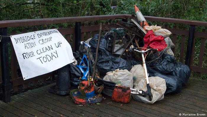 Großbritannien Umweltverschmutzung Kunststoff