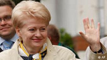 Lithuanian president Dalia Grybauskaite