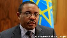 Äthiopischer Premierminister Hailemariam Desalegn beim Interview mit Reuters in Addis Ababa