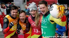 Pyeongchang Olympia 2018 Rodeln - Natalie Geisenberger, Johannes Ludwig, Tobias Wendl and Tobias Arlt