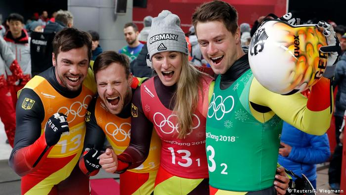 Pyeongchang Olympia 2018 Rodeln - Natalie Geisenberger, Johannes Ludwig, Tobias Wendl and Tobias Arlt (Reuters/A. Wiegmann)