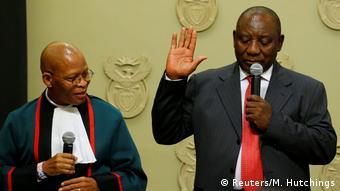 Südafrika - neuer Präsident Cyril Ramaphosa – Vereidigung