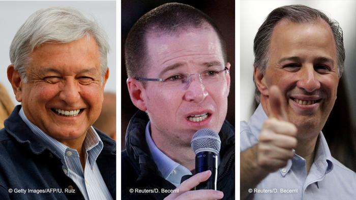 Kombo Mexiko Präsidentschaftskandidaten