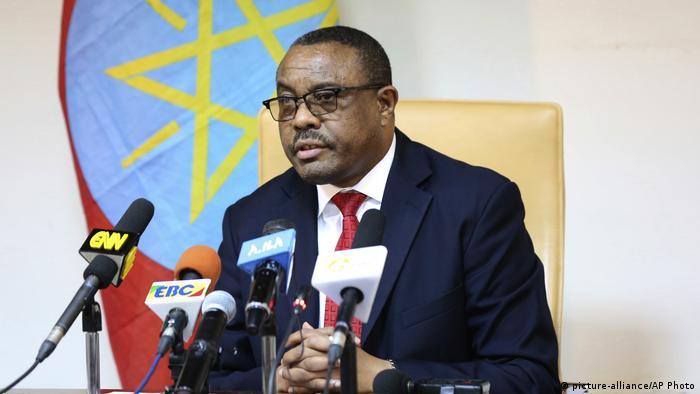 Äthiopien Ministerpräsident Hailemariam Desalegn kündigt Rücktritt an