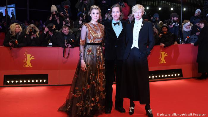 68th Berlinale red carpet with Greta Gerwig, Tilda Swinton and Wes Anderson (picture alliance/dpa/B.Pedersen)