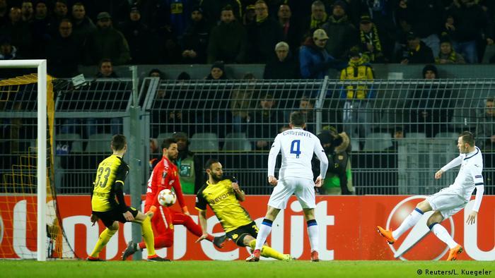 Fußball Europa League Borussia Dortmund vs Atalanta Bergamo Ausgleich 1:1 (Reuters/L. Kuegeler)