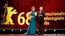 68. Berlinale – Eröffnung - Anke Engelke und Dieter Kosslick