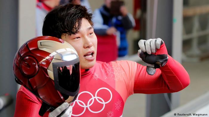 Olympische Winterspiele 2018 in Südkorea Skeleton Yun Sung Bin (Reuters/A. Wiegmann)