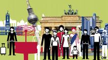 Die Ausgabe von DE_facto widmet sich dem Thema Berlin. Moderatorin: Sanja Blagojevic. Copyright: DW
