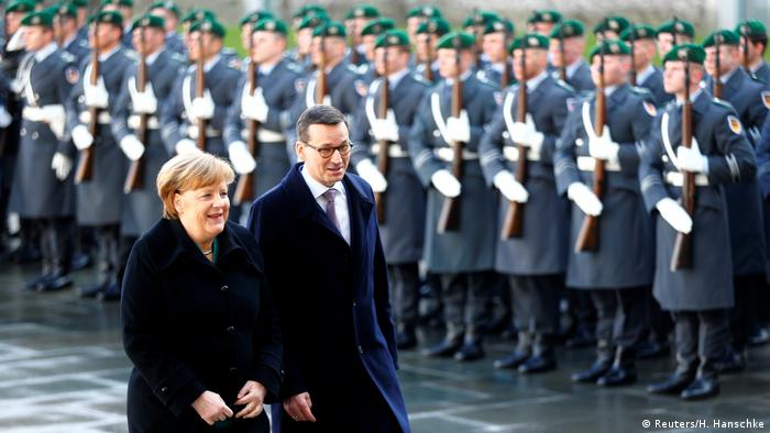 German Chancellor Angela Merkel and Polish Prime Minister Mateusz Morawiecki in Berlin (Reuters/H. Hanschke)