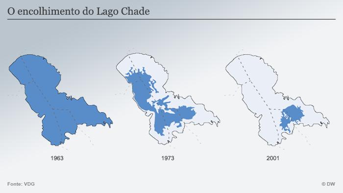 Infografik Karte Das Verschwinden des Tschadsees POR