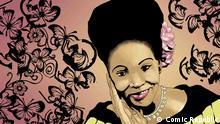 Nigeria, Cartoons und Zeichnungen Portrait Margaret Ekpo