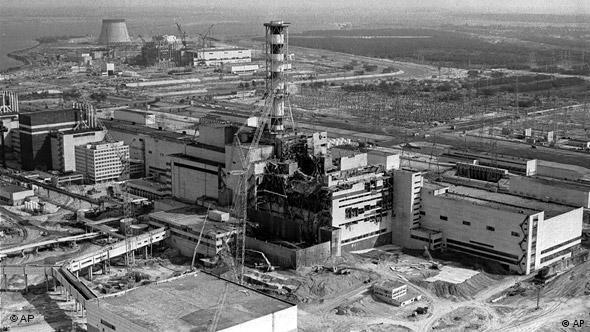 ЧАЭС после аварии. Архивная съемка 1986 г.