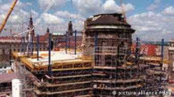 Rebuilding the city's symbolic Frauenkirche, from rubble