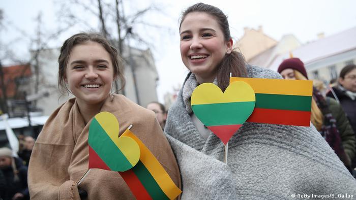 Litauen Vilnius Feierlichkeiten 100-jähriges Staatsjubiläum