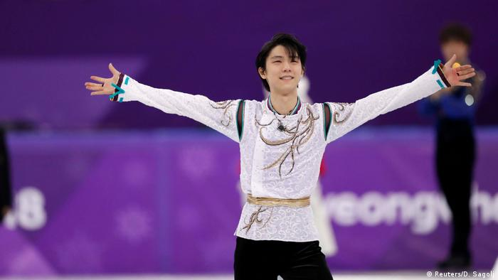 Yuzuru Hanyu celebrates gold
