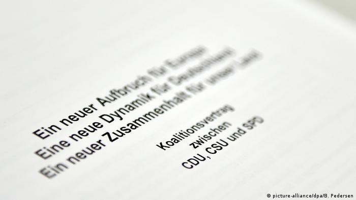 Symbolbild Groko - Koalitionsvertrag