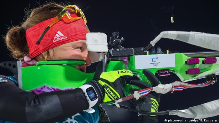 Laura Dahlmeier was below standard at the shooting gallery