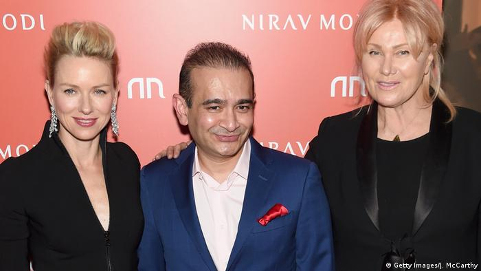 Actresses Naomi Watts and Deborra-Lee Furness stand with Indian jeweler Nirav Modi