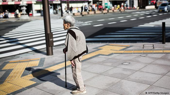 An old person in Japan