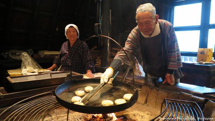 Elderly couple in Japan