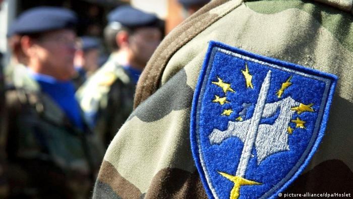 Eurocorps badge (picture-alliance/dpa/Hoslet)