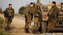 Israel soldiers along the Gaza Strip (Reuters/A. Cohen)