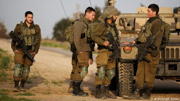 Israel soldiers along the Gaza Strip