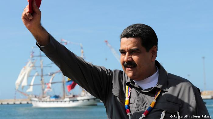 Venezuela Präsident Nicolas Maduro in La Guaira