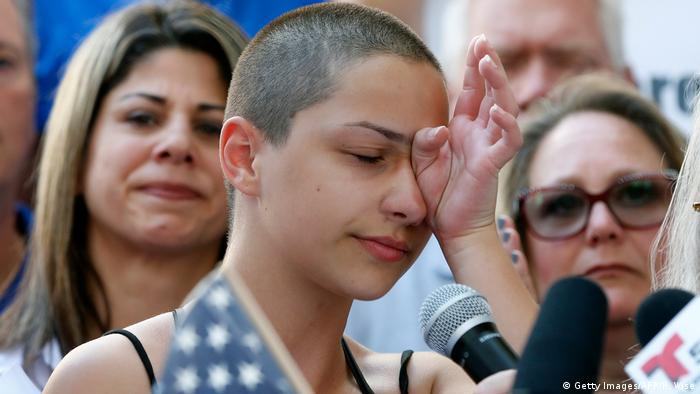 USA Anti-Waffen-Demonstration in Fort Lauderdale - Emma Gonzalez (Getty Images/AFP/R. Wise)