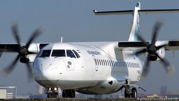 A turboprop regional airliner operated by Iran Aseman Airlines (picture-alliance/dpa/EADS ATR)