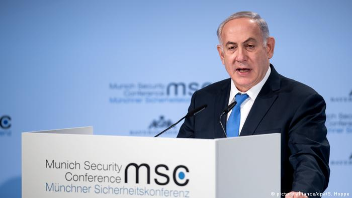 Netanyahu at the Munich Security Conference (picture alliance/dpa/S. Hoppe)