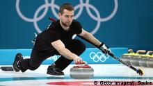 Curler Alexander Kruschelnizki in Aktion (Foto: Getty Images/J. Squire)