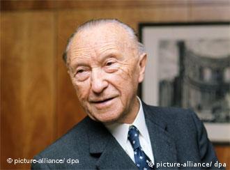 Konrad Adenauer im Jahr 1966. 14 Jahre lang lenkte er die Geschicke der jungen Republik (Foto: dpa)