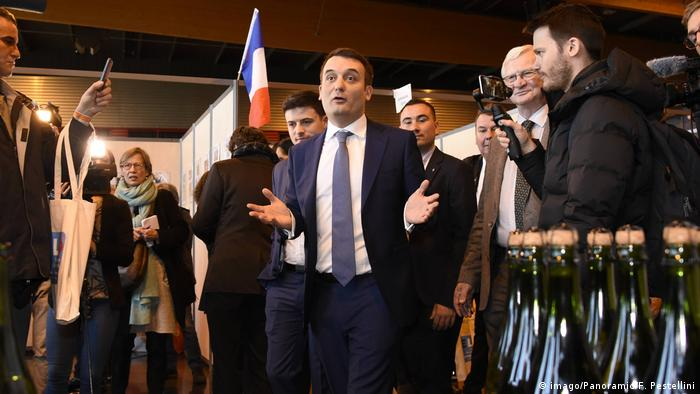 Florian Philippot speaks at the first congress of his new French far-right party, The Patriots. (imago/Panoramic/F. Pestellini)