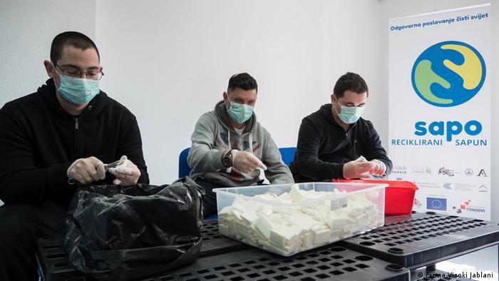 Kroatien Produktion bei Visoki Jablani für rezyklierte Seife