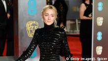 LONDON, ENGLAND - FEBRUARY 18: Saoirse Ronan attends the EE British Academy Film Awards (BAFTA) held at Royal Albert Hall on February 18, 2018 in London, England. (Photo by Jeff Spicer/Jeff Spicer/Getty Images)