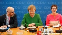 Deutschland Merkel mit Tauber und Kramp-Karrenbauer