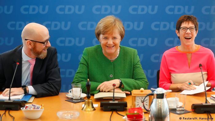 Merkel, Tauber, Kramp-Karrenbauer