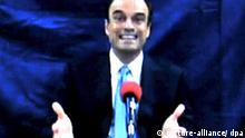 A YouTube video grab taken 12 May 2009 of an undated videotape of Guatemalan lawyer Rodrigo Rosenberg speaking about a plot to kill him. In the video distributed to local media, Rosenberg says: 'If you are watching this message, it is because I was assassinated by President Alvaro Colom with help from Gustavo Alejos', the president's private secretary. Lawyer Rodrigo Rosenberg was shot to death by unidentified assailants while riding his bicycle on 10 May 2009, the newspaper El Periodico de Guatemala reported. President Colom's spokesman, Fernando Barrillas, issued a statement saying the government 'categorically rejects any accusations made in tapes and statements being distributed to some news media'. EPA/YOUTUBE EDITORIAL USE ONLY (zu dpa 0841) +++(c) dpa - Bildfunk+++