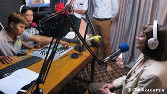 Der Ablauf im Radiosender war für die meisten neu.