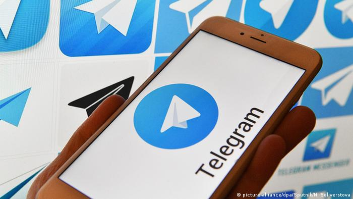 Telegram messenger (picture-alliance/dpa/Sputnik/N. Seliverstova)