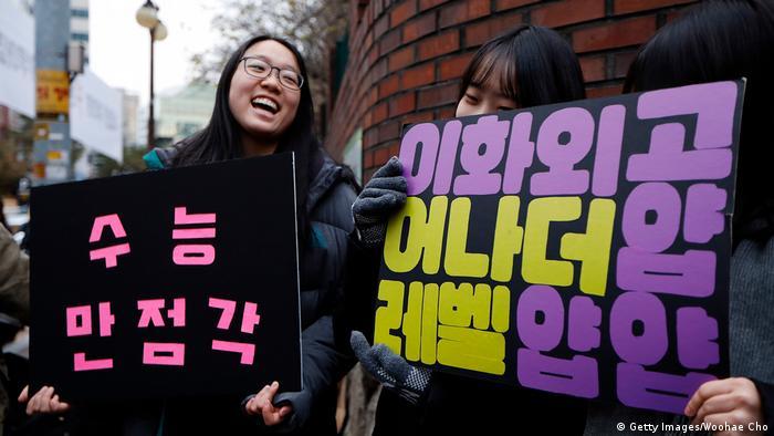 Südkorea Aufnahmeprüfung Studium