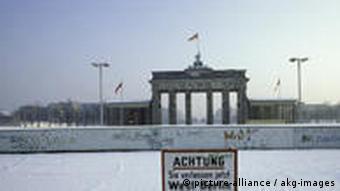 Brandenburger Tor in den 80ern