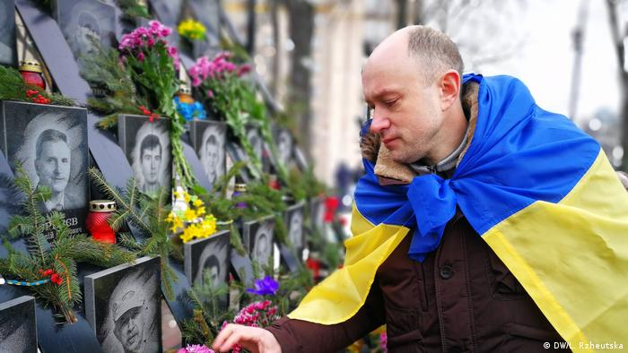 A memorial to the victims of the Maidan protests (DW/L. Rzheutska)
