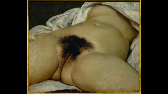 Gustave Courbet painting The Origin of the World
