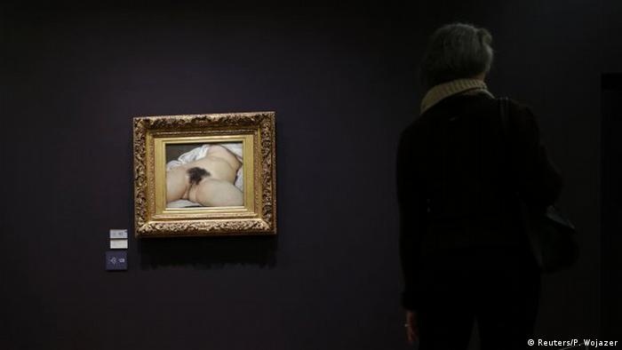 Musee d'Orsay in Paris L'Origine du Mond Gustave Courbet (Reuters/P. Wojazer)
