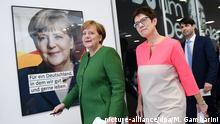 Deutschland Gremiensitzungen der CDU Angela Merkel und Annegret Kramp-Karrenbauer